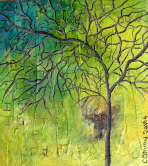 Thoughts, Mixed Media Art by Cammy Davis, Jacksonville Oregon Artist