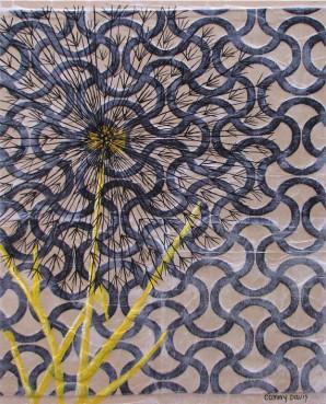 Black Dandelion by Cammy Davis, Jacksonville Oregon Artist