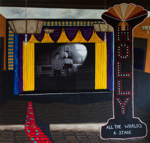 Holly Theatre with Randy and Diogo, Mixed Media Painting