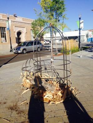 Human Bird Cages by Artist Kris Walker