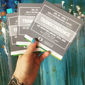 Transcendence Exhibit at the UO Cultural Forum