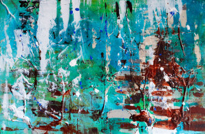 Abstract Painting, Zion, Zion Rocks, Landscape, Rocks, Abstract