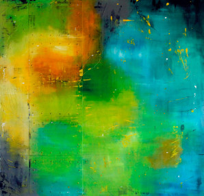 Abstract Expressionism, Oregon Artist, Abstract, Art, Blue, Green