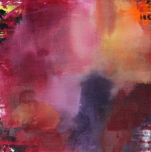 Contemporary Art, Pink, Purple, Yellow, Art, Painting, Abstract Expressionism